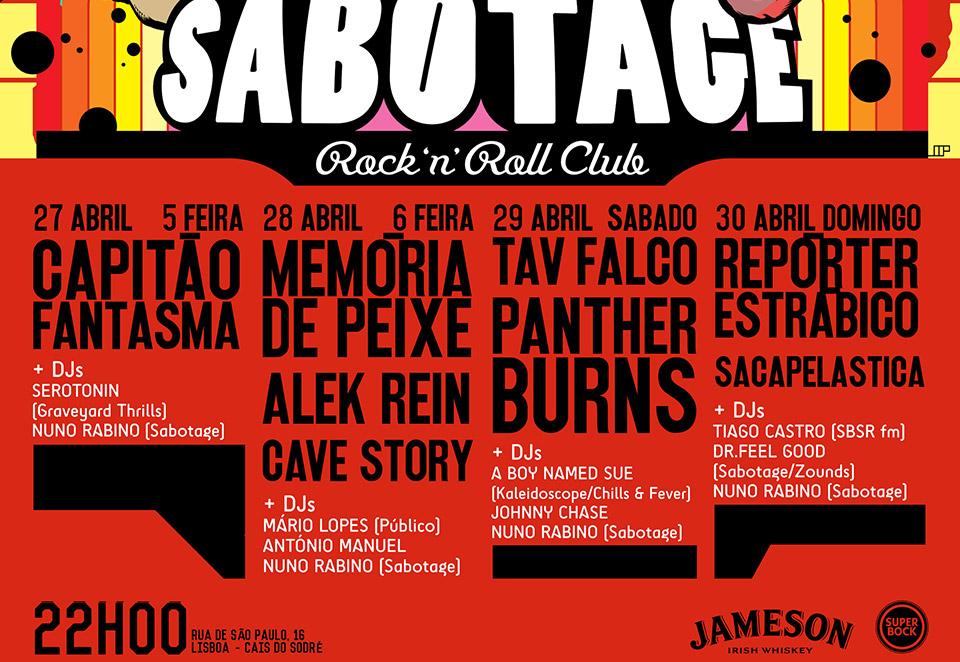 Cartaz 4º Aniversário do Sabotage Club